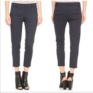 VINCE Menswear Cropped Trouser Pant in Navy